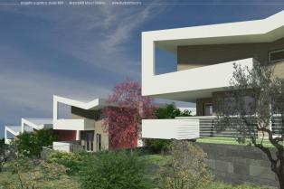 Продается участок земли с утвержденным проектом на строительство 8 вилл.