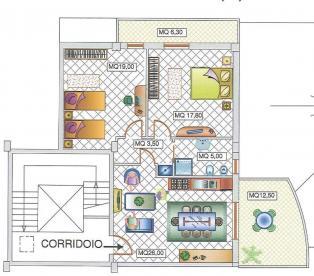 Новейшая квартира в Чепрането в 15 км от моря
