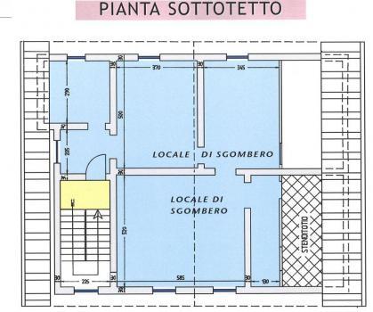 План мансардного помещения